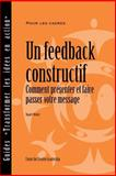 Feedback That Works, Sloan R. Weitzel, 1604910526