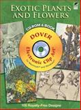 Exotic Plants and Flowers CD-ROM and Book, M. Meheut, 0486990532