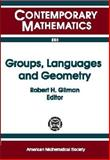 Groups, Languages and Geometry, AMS-IMS-SIAM Joint Summer Research Conference on Geometric Group Theory and Computer Science, 0821810537