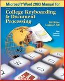 Microsoft Word 2003 Manual for College Keyboarding and Document Processing (GDP), Ober, Scot and Hanson, Robert W., 0072930543