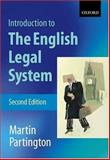 An Introduction to the English Legal System, Partington, Martin, 0199260575