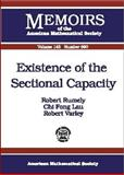 Existence of the Sectional Capacity, Robert S. Rumely and Chi Fong Lau, 0821820583