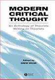 Modern Critical Thought : An Anthology of Theorists Writing on Theorists, , 0631220593