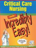 Critical Care Nursing, Springhouse Publishing Company Staff, 158255059X