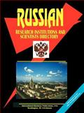 Russian Research Institutions and Scientists Directory, Global Investment and Business Center, Inc. Staff, 0739730606