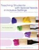 Teaching Students with Special Needs in Inclusive Settings, Third Canadian Edition with MyEducationLab, Dowdy and Smith, Tom E. C., 0205750613