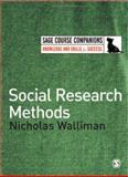 Social Research Methods, Walliman, Nicholas S. R., 1412910617
