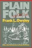 Plain Folk of the Old South, Owsley, Frank Lawrence, 0807110639