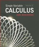 Single Variable Calculus, Rogawski, Jon, 1429210672