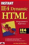 IE4 Dynamic HTML Programmer's Reference, Homer, Alex and Ullman, Chris, 1861000685