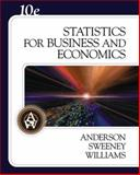 Statistics for Business and Economics, Anderson, David R. and Sweeney, Dennis J., 0324360681