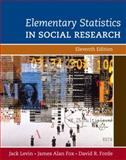 Elementary Statistics in Social Research, Fox, James Alan and Forde, David R., 0205570690