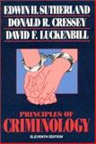Principles of Criminology, Edwin H. Sutherland and Donald R. Cressey, 0930390695
