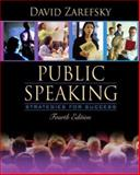 Public Speaking : Strategies for Success (with Study Card), Zarefsky, David, 0205460690