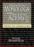 Audition Monologs for Student Actors II, Roger Ellis, 1566080738