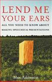 Lend Me Your Ears, J. Maxwell Atkinson, 0195300750