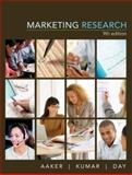 Marketing Research, Aaker, David A. and Day, George S., 0470050764