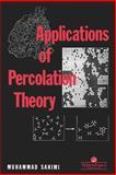 Applications of Percolation Theory, Sahimi, Muhammad, 0748400761