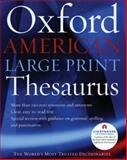 Oxford American Large Print Thesaurus, , 0195300777