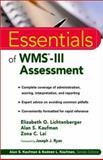 Essentials of WMS-III Assessment, Lichtenberger, Elizabeth O. and Kaufman, Alan S., 0471380806