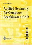 Applied Geometry for Computer Graphics and CAD, Marsh, D., 1852330805