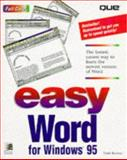Easy Word for Windows 95, Reisner, Trudi, 0789700816