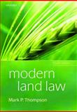 Modern Land Law, Thompson, Mark P., 0199550816