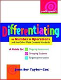 Differentiated Instruction in Math Across the Content Standards : Pk-2, Taylor-Cox, Jennifer, 032501082X