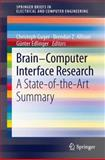 Brain-Computer Interface Research : A State-of-the-Art Summary, Guger, Christoph and Allison, Brendan Z., 3642360823