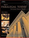Paralegal Today : The Legal Team at Work, Miller, Roger LeRoy and Urisko, Mary Meinzinger, 1401810829