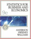 Statistics for Business and Economics, Anderson, David R. and Sweeney, Dennis J., 032420082X