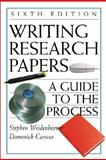 Writing Research Papers : A Guide to the Process with 2001 APA Update, Weidenborner, Stephen and Caruso, Domenick, 0312400853