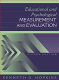 Educational and Psychological Measurement and Evaluation, Hopkins, Kenneth D., 0205160875