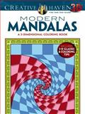 Creative Haven 3-D Modern Mandalas Coloring Book, Randall McVey, 0486790878