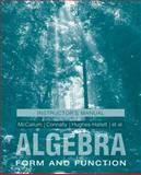 College Algebra, McCallum, William G. and Connally, Eric, 0470570881