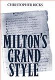 Milton's Grand Style 9780198120902