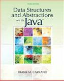 Data Structures and Abstractions with Java, Carrano, Frank, 0136100910