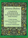 Complete Sonatas for Solo Instrument and Piano, Johannes Brahms, 0486260917