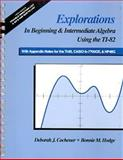 Elementary and Intermediate Algebra Explorations Using TI-82, Cochener, Deborah Jolly, 0534340911