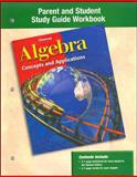 Algebra - Concepts and Applications : Parent and Student Study Guide Workbook, , 0078240964