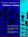 Effective Methods for Software Testing, Perry, William E., 0471060976