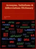 Acronyms, Initialisms and Abbreviations Dictionary, Bonk, Mary Rose, 0787640972