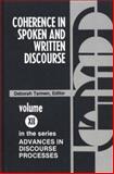 Coherence in Spoken and Written Discourse, Deborah Tannen, 089391097X