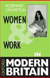 Women and Work in Modern Britain 9780198780977
