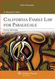 California Family Law for Paralegals, Waller, Marshall W., 0735570973