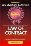 Law of Contract 2007 - 2008, Brown, Ian and Chandler, Adrian, 1841740993