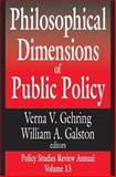 Philosophical Dimensions of Public Policy, , 0765801000