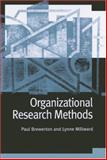 Organizational Research Methods : A Guide for Students and Researchers, Brewerton, Paul M. and Millward, Lynne J., 0761971017