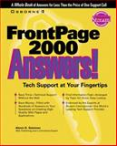 FrontPage 2000 Answers! : Certified Tech Support, Gutzman, Alexis D., 0072121017