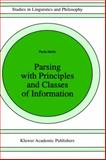 Parsing with Principles and Classes of Information, Merlo, Paola and Slap, 0792341031